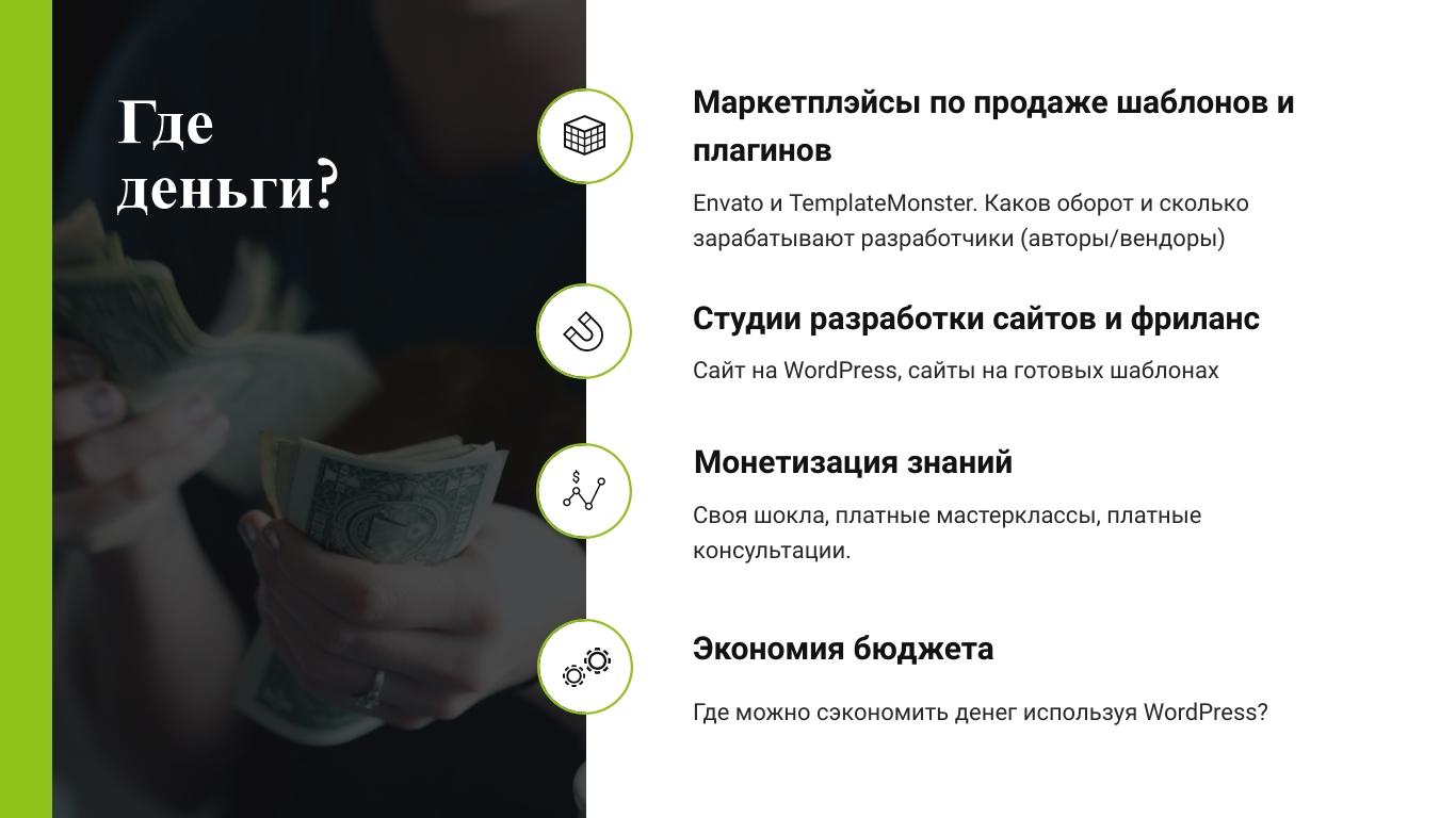 Александр Сокирка - Выступление WordCamp Saint Petersburg 2019 - Хотите достойно зарабатывать - Тогда всегда и везде используйте WordPress_Page_02
