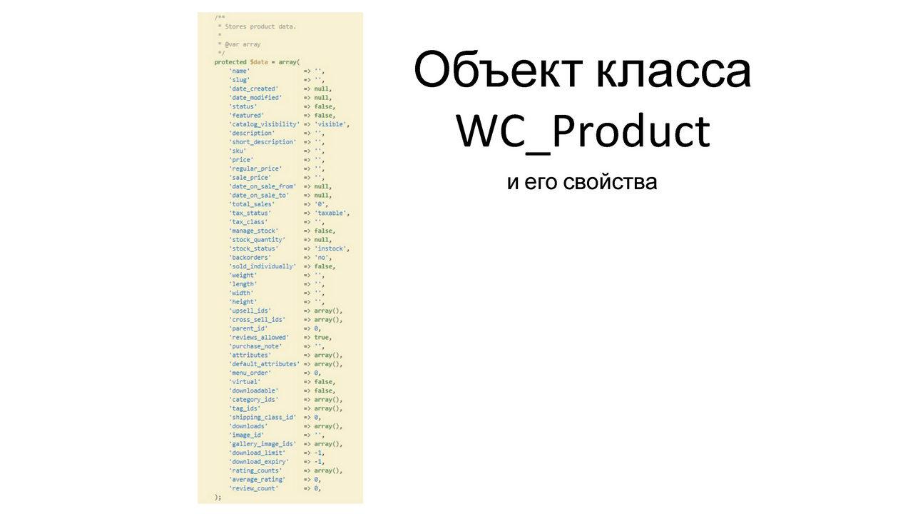 Екатерина Леурдо - Как разбираться в коде без документации на примере WooCommerce_Page_07